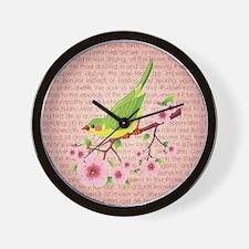 BIRDS & BLOSSOMS Wall Clock