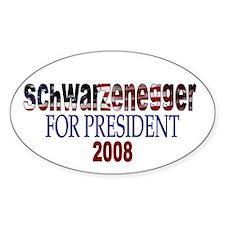 Schwarzenegger For President Oval Decal