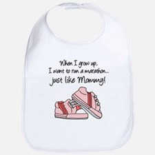 Run Marathon Just Like Mommy Bib