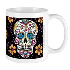 Sugar Skull BLACK Small Mug