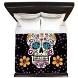 Sugar skull King Duvet Covers
