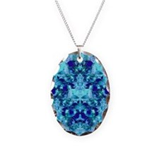 Turquoise and Cobalt Blue Godd Necklace