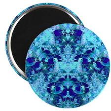 Turquoise and Cobalt Blue Goddess Mandala Magnet