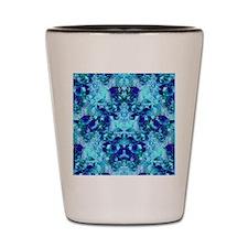Turquoise and Cobalt Blue Goddess Manda Shot Glass