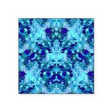 """Turquoise and Cobalt Blue G Square Sticker 3"""" x 3"""""""