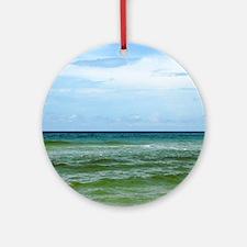Photograph of Ocean Horizon Round Ornament