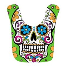 Sugar Skull GREEN Bib