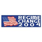 Regime Change 2004 (bumper sticker)