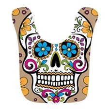 Sugar Skull TAN Bib