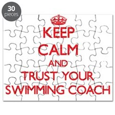 Keep Calm and trust your Swimming Coach Puzzle