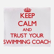 Keep Calm and trust your Swimming Coach Throw Blan