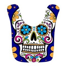 Sugar Skull ROYAL BLUE Bib