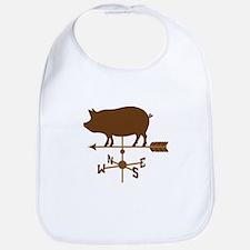 Pig Wind Vane Bib