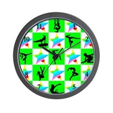 CHARMING GYMNAST Wall Clock