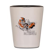 Full Throttle - Orange Shot Glass