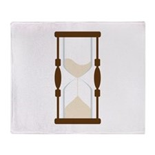 Hourglass Sand Timer Throw Blanket