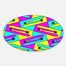 Forks and Knives Sticker (Oval)