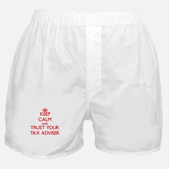 Keep Calm and trust your Tax Adviser Boxer Shorts