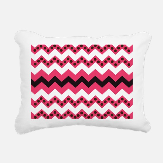 Funky Pink Chevron Stripes Rectangular Canvas Pill