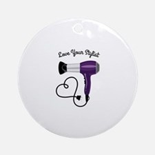 Love Your Stylist Ornament (Round)