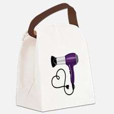 Hair Dryer Canvas Lunch Bag
