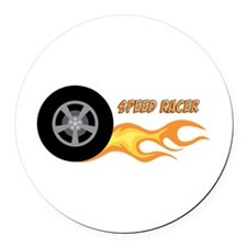 SPEED RACER Round Car Magnet