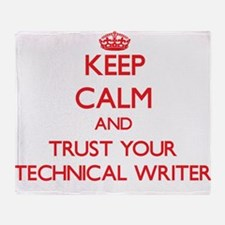 Keep Calm and trust your Technical Writer Throw Bl