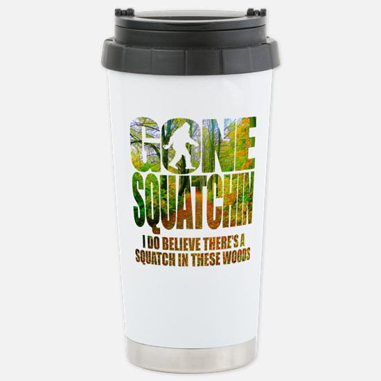 Gone Squatchin *Wooded Stainless Steel Travel Mug