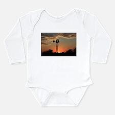 Cute Windmill Long Sleeve Infant Bodysuit