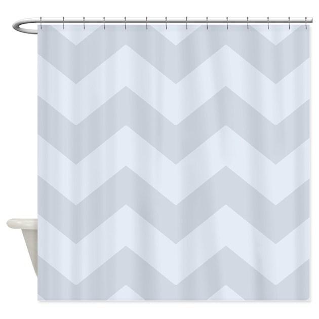 Light Grey Chevron Shower Curtain By Patternedshop
