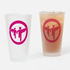 Guy with sidekick - bananaharvest Drinking Glass