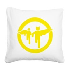 Guy with sidekick - bananahar Square Canvas Pillow
