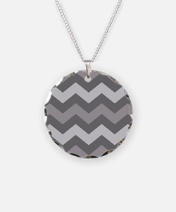 Dark Grey Chevron Necklace