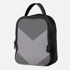 Dark Grey Chevron Neoprene Lunch Bag