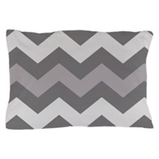 Dark Grey Chevron Pillow Case