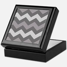 Dark Grey Chevron Keepsake Box