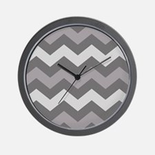 Dark Grey Chevron Wall Clock