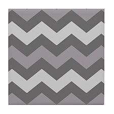 Dark Grey Chevron Tile Coaster