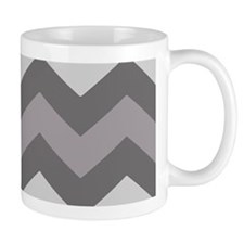 Dark Grey Chevron Mugs
