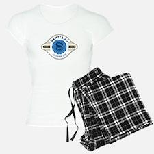 Santiago de Cuba Retro Badge Pajamas