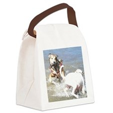 Dogs at Play Canvas Lunch Bag