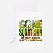 Gone Squatchin *Wooded Path Edition* Greeting Card