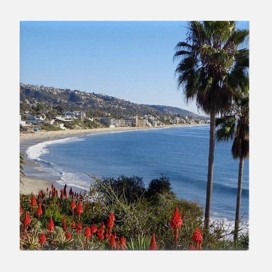 Laguna beach,california Tile Coaster
