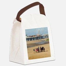 Blackpool donkey rides and centra Canvas Lunch Bag