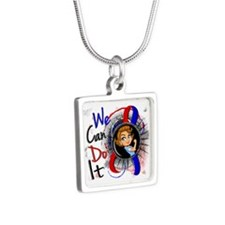 CHD Rosie Cartoon WCDI Silver Square Necklace