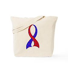 CHD Polka Dot Ribbon Tote Bag