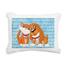 BEST BUDDIES Rectangular Canvas Pillow