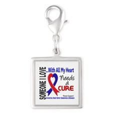 CHD Needs a Cure 3 Silver Square Charm