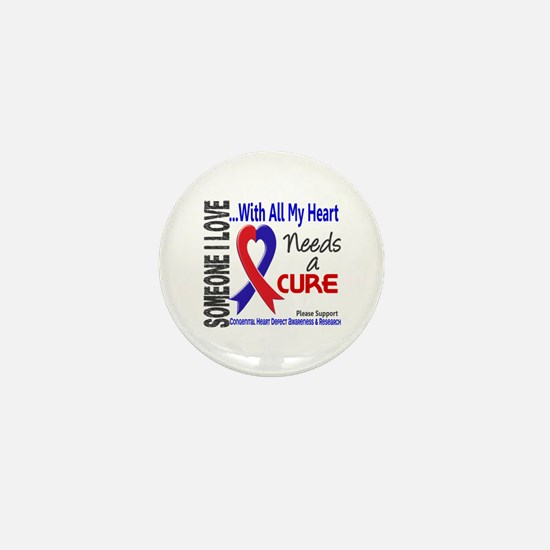 CHD Needs a Cure 3 Mini Button