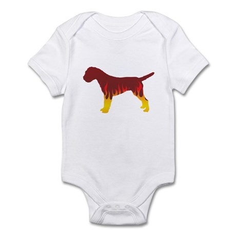 Terrier Flames Infant Bodysuit
